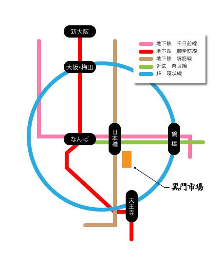 kuromon-ichiba_line_map