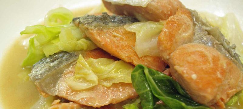 紅鮭チャンチャン焼風煮